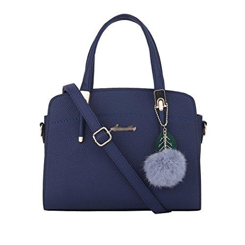 DISSA ES884 neuer Stil PU Leder Deman 2018 Mode Schultertaschen handtaschen Henkeltaschen,280×130×200(mm) Blau