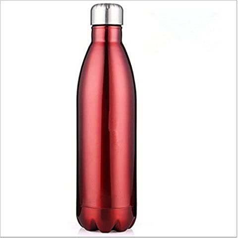 Wegner Thermos en acier inoxydable Bouteille d'eau   anti-fuite à double paroi en forme de Cola Bouteille d'eau   pas de la transpiration, vous permet de garder votre Boisson froide 24heures ou Hot 12heures   481,9gram,
