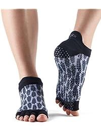 Toesox Grip la mitad Dedos calcetines de baja altura de la mujer, Vibe
