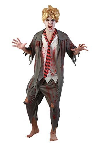 U LOOK UGLY TODAY Halloween Kostüm Herren Zombie Kostüm Partykleid Verkleidungsparty Dress Up Party mit Hose und - Der Ninja Vampir Kostüm