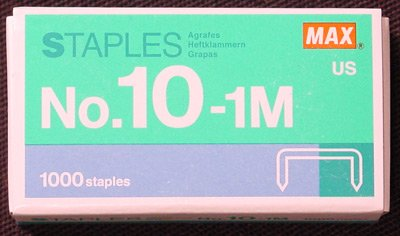 flat-clinch-staples-mini-box-of-1000-by-max-no10-by-max-clinch