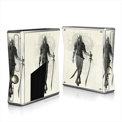mygift-dark-elf-design-protector-skin-decal-sticker-for-xbox-360-s-game-console-full-body