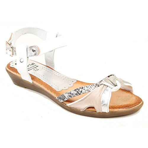 Marila - Strap alla caviglia donna White and Silver