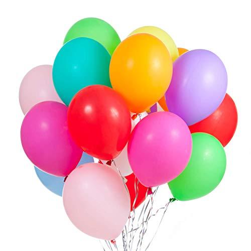 mqualität Ø ca. 30 cm-Party Ballons, Bunte Luftballons für Geburtstage und Partys ()