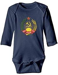 9e63618454437c T-Shirt Manica Lunga da Neonato per Neonato, Retro Saxophone Sax 70s 80s  Music