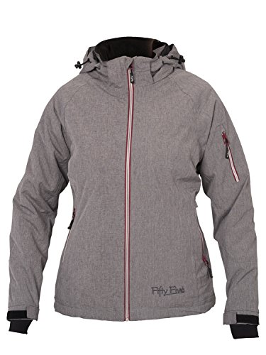 Fifty Five Damen Winterjacke Skijacke Rankin 50 Hellgrau