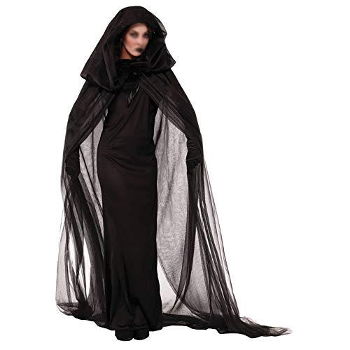 (CR#ST Halloween-Kostüm Nacht Wandern Seele weiblich Geist Kleid Hexe Kleid Multi-Code Nachtclub Rave Party)