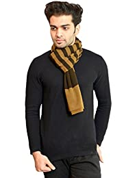 513 Stripes knitted winter soft and warm brown men's muffler
