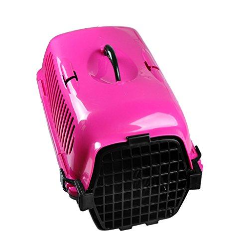 Cjzdcwb Mode-Haustier-Luftfahrt-Kasten-tragbarer Haustier-Käfig passend für kleine Haustiere wie Katze/Kleiner Hund/Hamster kann in den Autositz gelegt Werden (Color : Rose Red)
