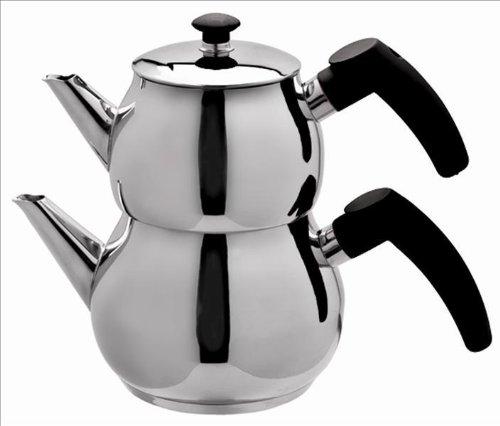 Schillerbach Teekanne Set mini Edelstahl 18/10 Turkisch Tee Kochset