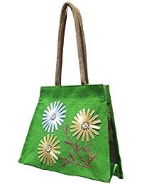 GREAN Jute Shoulder Bag/ Designer Handbag/ Tote/ Fancy Bag For Party