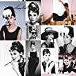 Smokey / Pink / Blue - 97610 - Audrey Hepburn - Hollywood - Screen Icon - Photo - Film - Statement Wallpaper