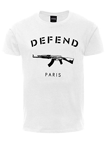DEFEND PARIS - Maglietta sportiva - Maniche corte  -  uomo bianco S