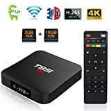 Android 7.1 TV Box, T95 S1 Smart Internet TV Box Amlogic S905W Quad Core 2Go/16Go with Digital Display HDMI Ultra HD 4K Ethernet 2.4GHz WiFi H.265 Video Decoder...