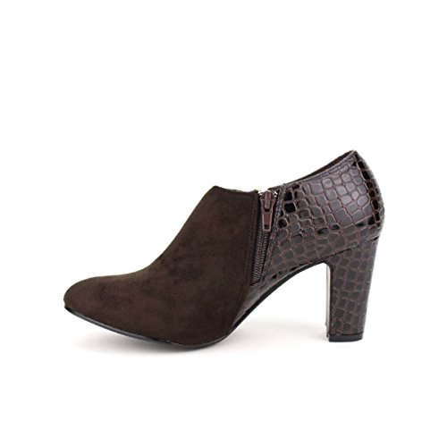 Cendriyon Coks 8ndvq8 Marron Bottine Chaussures Femme Bi Matière ZUxwqx4T