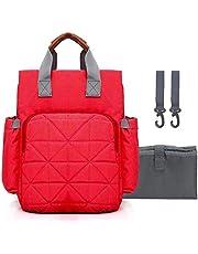 PACKNBUY Baby Diaper Bag Maternity Mom Travel Backpack Red