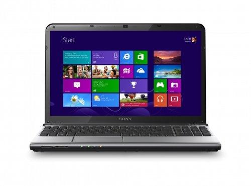 Sony VAIO SVE1513Y1ESI 39,5 cm (15,5 Zoll) Laptop (Intel Core i7 3632QM, 2,2GHz, 8GB RAM, 750GB HDD, AMD HD 7650M (2GB), DVD, Win 8) silbergrau