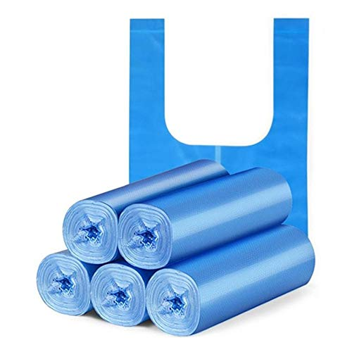 Camerlon 5/15 Rollos 100/200/300 Pcs Hogar Oficina Hogar Bolsa de plástico Grueso Portátil Ambiental No tóxico Bolsa de Basura sin Olor Verde 5 pcs45X65CM