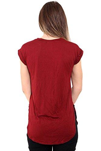 SugerDiva Boy Bye Tee-shirt manches courtes Du vin