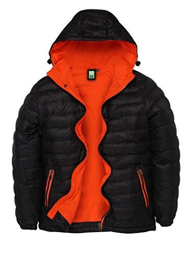 MAKZ - Manteau - Homme Noir - Noir/orange