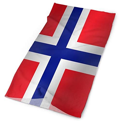 Bandera multifuncional al aire libre de Norway_273 Bandana Headwear deportes diadema bufanda mágica para mujer para hombre