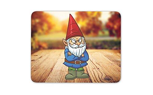 Gnome-Garten-Grumpy Mauspad Mat - Computer PC Gaming-Geschenk # 4266 -