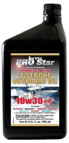 Star brite Super Premium Synthetic Blend 4 Stroke Oil 10W 30 - 32 oz by Star Brite