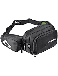 Phenovo Black Water Resistant Fanny Pack Multiple Travel Waist Bag Sports Bum Bag