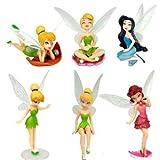 B-Creative Tinkerbell Cake Figure Topper Toy Fairy Princess Cake Decorations Disney Fairies