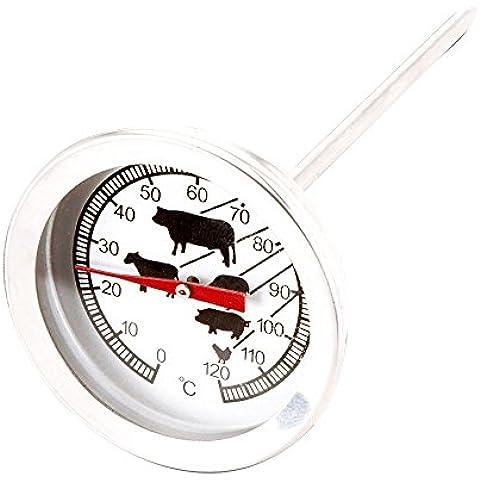 Carne Termometro in acciaio inox | termometro da cucina da 0°C a 120°C | termometro per carne barbecue termometro da forno per carne, pesce e pollame