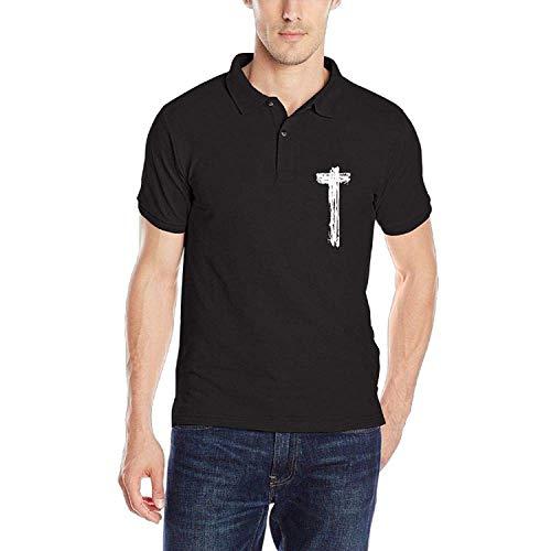 Faith Christian Cross Herren Classic Polo-Shirt Schnelltrocknendes Golf-Polo-Shirt, M (Christian Polo-shirts)