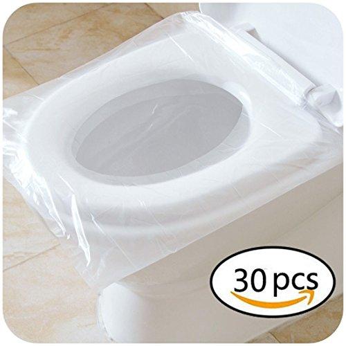 Tappi gonfiabili della sede del gabinetto matita di plastica impermeabile di plastica di viaggio 40 * 48cm / 15.7 '' * 18.9 '' (30 pezzi, trasparente)