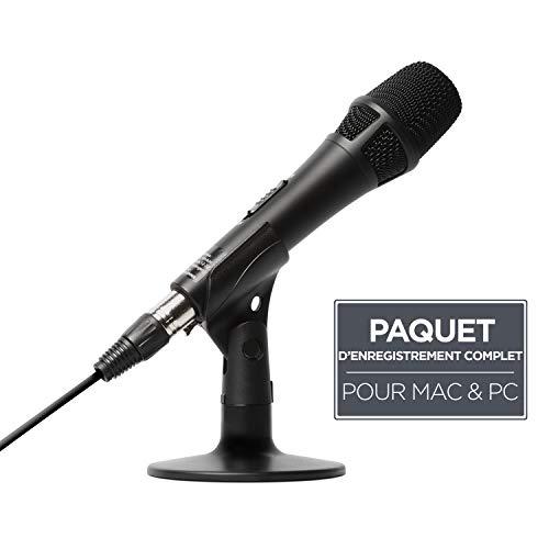 Marantz Professional M4U - Microphone USB Mac/PC avec Câble et Adaptateur USB, Câble de Microphone et Support de Bureau, pour Podcasts, Voix-Off, Karaoké, Diffusion ou Enregistrement de la Musique