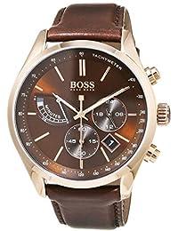 Hugo Boss Hommes Chronographe Quartz Montres bracelet avec bracelet en Cuir - 1513605