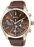 Hugo Boss Mens Chronograph Quartz Watch with Leather Strap 1513605
