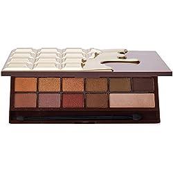 Makeup Revolution Palette de maquillage, teintes chocolat et dorées - I Heart Makeup - Chocolate - Golden bar