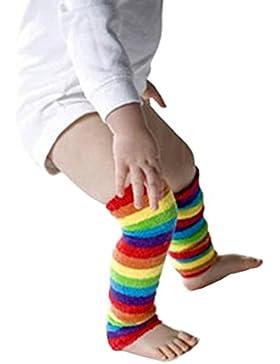 Jelinda® Regenbogen Farbe Streifen unisex Baby Kleinkind Bein Wärmer 1 Paar/3 Paare
