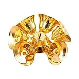 Qiusa 10 Stück Christbaumschmuck, Jingle Mini Bells + Hängende Dekor Craft Geschenke + Home Decor