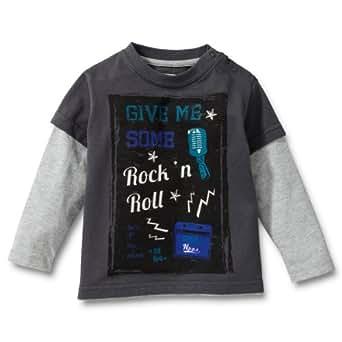 Noppies Baby - Jungen Shirt 25438-Tee Malvern, Gr. 110, Grau (anthracite)