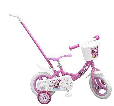 """Toimsa - 1025 - Vélo avec Canne Directionnelle - Fille - Minnie Mouse - 10"""""""