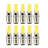 Lampadine 3W BA15D LED, lampadina a doppio ago in silicone (equivalente lampada alogena di ricambio 30W) adatta for l'illuminazione domestica, AC110V-130V (confezione da 10) yd&h