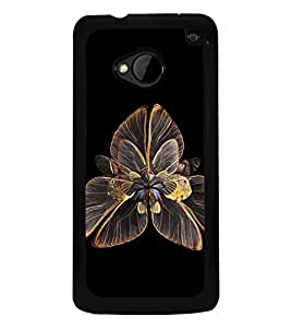Fuson Premium 2D Back Case Cover Floral Pattern With Multi Background Degined For HTC One M7::HTC M7