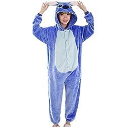 La vogue Pijama De Estar Por Casa Para Mujer Hombre Estilo Animal Azul,M/Pecho 122cm