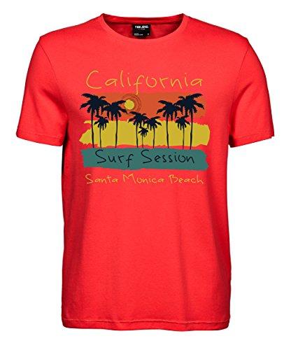 makato Herren T-Shirt Luxury Tee Santa Monica Beach Coral
