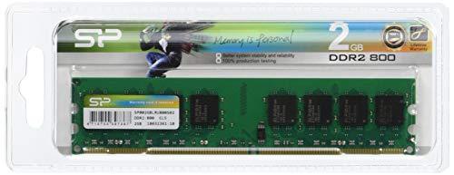 Silicon Power 2GB PC2-6400 Speichermodul DDR2 800 MHz - Speichermodule (2 GB, 1 x 2 GB, DDR2, 800 MHz, 232-pin DIMM) -