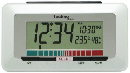 Technoline Luftgütemonitor WL 1000 mit Innentemperaturanzeige und Luftgütesensor zur Überwachung der Raumluftqualität , Weiß, 15,1 x 4,8 x 8,5 cm -