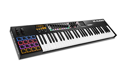 M-Audio Code 61 - USB MIDI Controller mit anschlagdynamischen 61 Tasten, 16 anschlagdynamischen Trigger Pads & einem vollen Paket an Production/Performance Ready Steuerungen, VIP 3.0, Software Paket