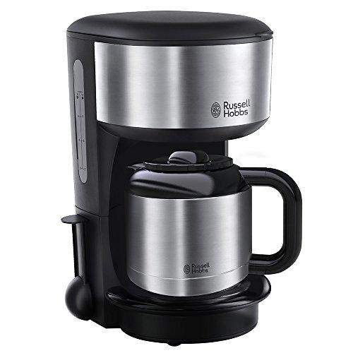 Russell Hobbs Oxford 20140 -56 Thermo-Kaffeemaschine mit Brausekopf-Technologie und Schnellheizsystem silber/schwarz