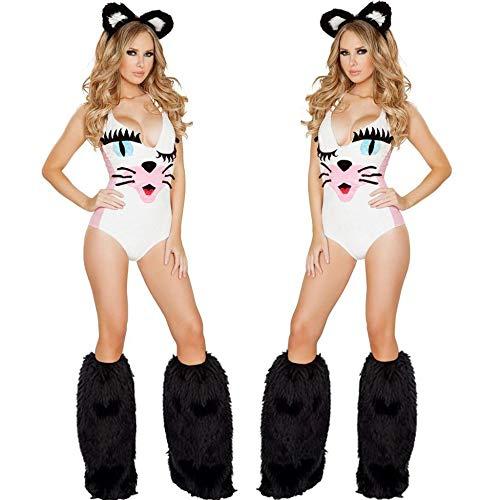 �me Halloween Nette Katze Siamese Ball Party Sexy Faule Katze Kostüme,Bild,Einheitsgröße ()