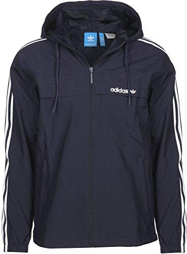 adidas 3Striped Windbreaker Herren dunkelblau/weiß, XXL - 62 Preisvergleich
